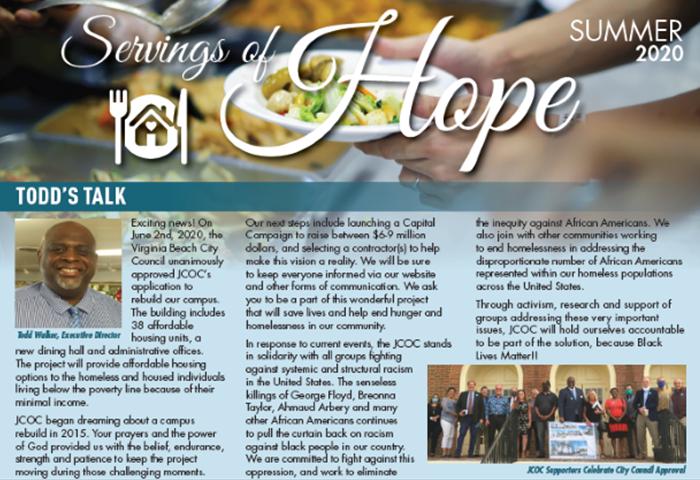 Servings of Hope: Summer Newsletter